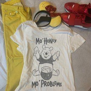 Winnie the pooh T & yellow pants